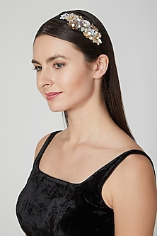 Silver & Gold Sequins Embellished Hairband by Studio Accessories
