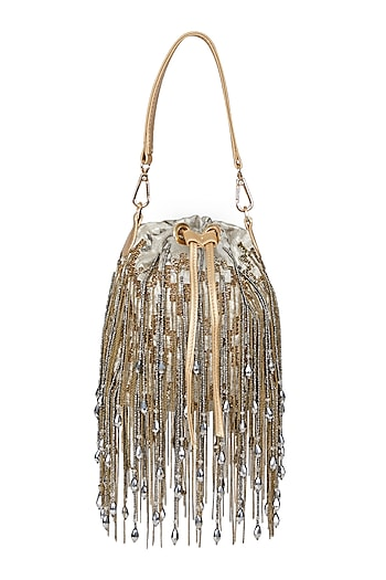Gold & Silver Embellished Potli Bag by Studio Accessories