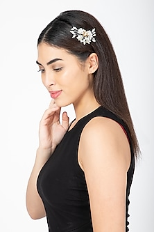 Silver & Gold Embellished Tic-Tac Hairclip by Studio Accessories