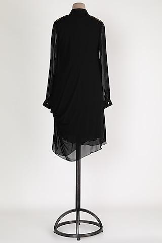 Black Collared Tunic by Sadan Pande