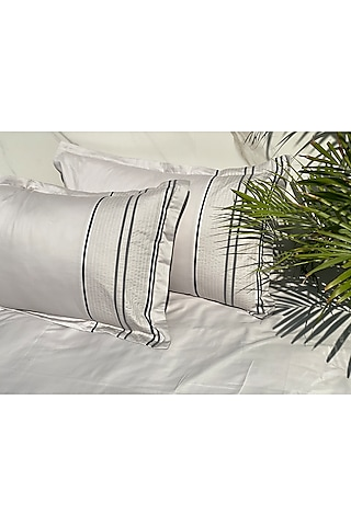 Sandstone Grey Cotton Bedsheet Set by SADYASKA