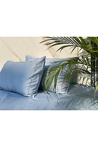 Smoky Blue Bedsheet Set by SADYASKA