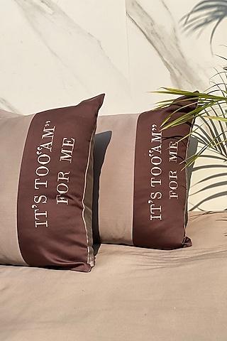 Taupe Cotton Bedsheet Set by SADYASKA