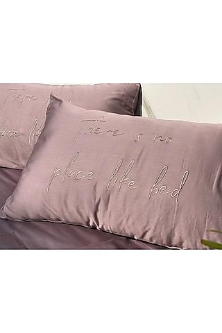 Old Rose Cotton Bedsheet Set by SADYASKA
