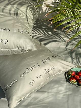 Sage Green Cotton Bedsheet Set by SADYASKA