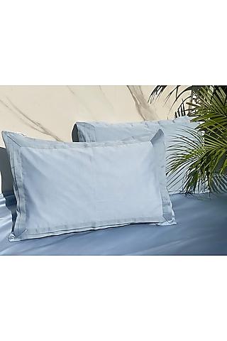 Blue Cotton Bedsheet Set by SADYASKA