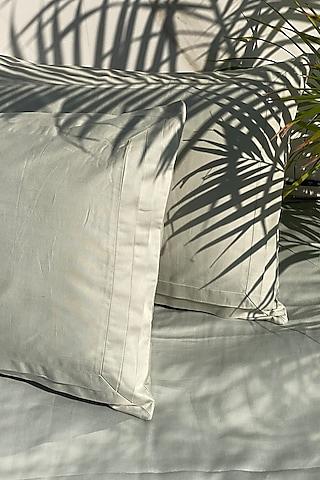 Sage Green Bedsheet Set (Set of 3) by SADYASKA