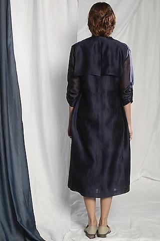 Grey Printed Dress With Jacket by Sneha Arora