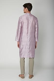 Mauve Detailed Silk Kurta by Sneha Arora Men