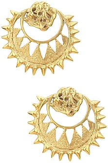 Gold Plated Chandbali Earrings by Flowerchild By Shaheen Abbas