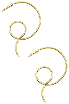 Gold Plated Serpiente Earrings by Flowerchild By Shaheen Abbas