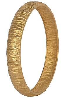 Set Of 2 Gold Plated Bangles by Flowerchild By Shaheen Abbas