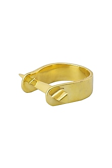 Gold Plated Spike Ring by Flowerchild By Shaheen Abbas
