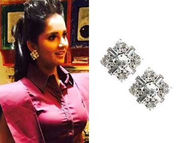 Square shape swarovski earrings by Prerto
