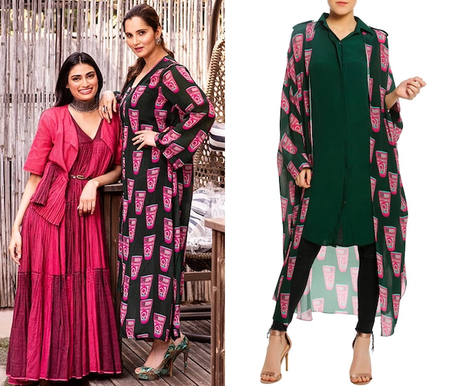 Green Printed Double Layered Shirt by Masaba
