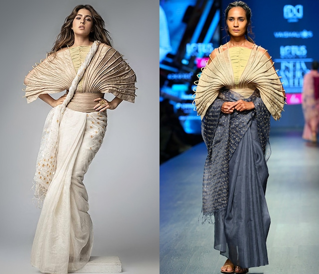 Gold Corded Silk Cape by Vaishali S