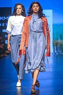 Rust Orange Jacket by Sneha Arora