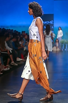 Multicolored Printed Dress by Sneha Arora