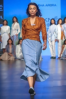 Blue Flared Skirt by Sneha Arora