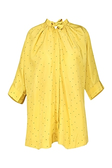 Yellow Polka Dot Shirt by Sneha Arora
