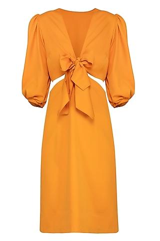 Mango Mojito Knotted Two Piece Dress by Samatvam By Anjali Bhaskar