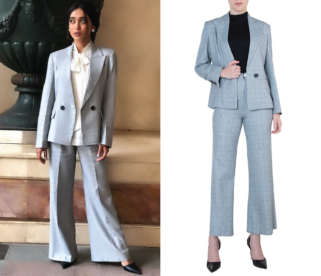 Powder blue tailored jacket by Meadow