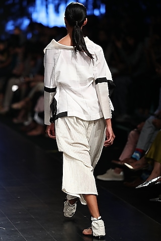 Off White Anti-Fit Top Shirt by Sayantan Sarkar