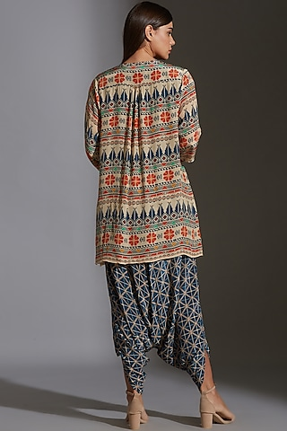Multi Colored Printed Dhoti Jumpsuit by Soup by Sougat Paul