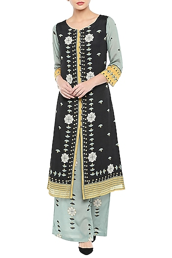 Multi Colored Printed Kurta With Palazzo Pants by Soup by Sougat Paul