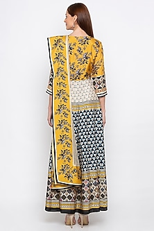 Multi Colored Printed Anarkali With Dupatta by Soup by Sougat Paul