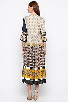 Multicolored Printed Wrap Dress by Soup by Sougat Paul