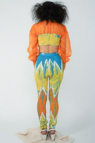 Multi Colored Pants Set by Surendri By Yogesh Chaudhary