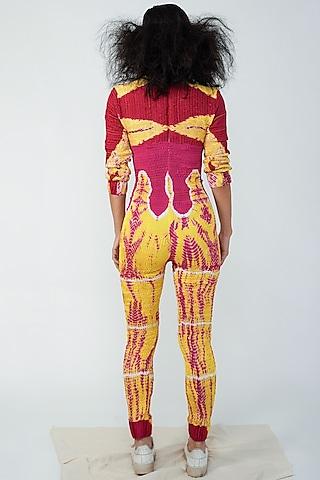 Multi Colored Viscose Bodysuit by Surendri By Yogesh Chaudhary