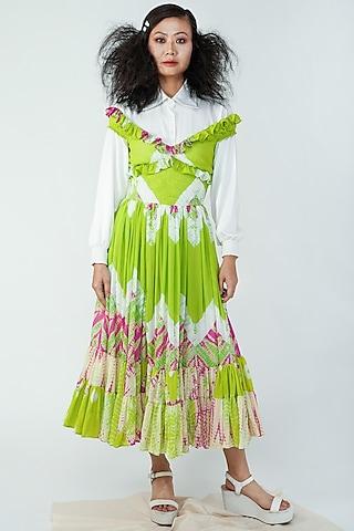 Green Summer Dress by Surendri By Yogesh Chaudhary