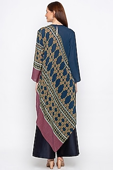 Blue Embroidered Kurta & Palazzo Pants by Soup by Sougat Paul