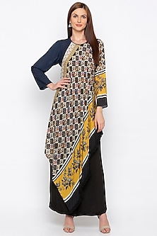 Multi Colored Embroidered & Printed Kurta With Pant by Soup by Sougat Paul