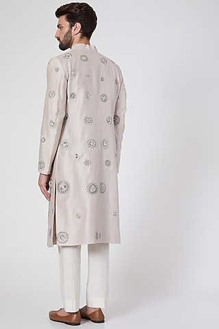 Grey Embroidered Sherwani by Samant Chauhan Men