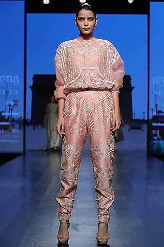 Peach Jumpsuit With Inner by Samant Chauhan