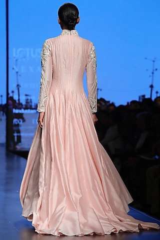 Pink Embroidered Gown by Samant Chauhan