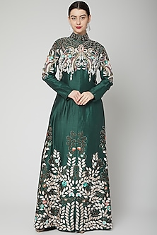 Emerald Green Embroidered Jacket With Pants by Samant Chauhan-POPULAR PRODUCTS AT STORE
