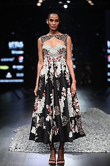 Black Stone Embroidered Gown by Samant Chauhan