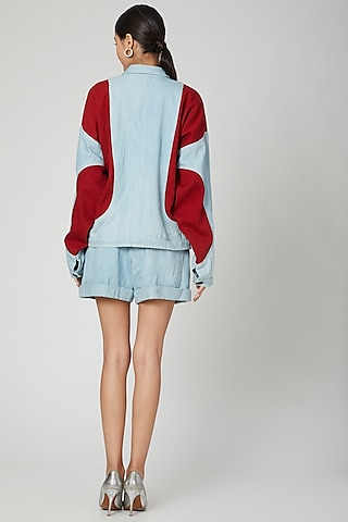 Ice Blue Bomber Jacket by SubCulture