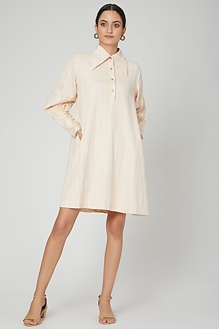 Light Pink Embellished Dress by SubCulture