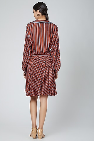 Orange Striped Dress by SubCulture