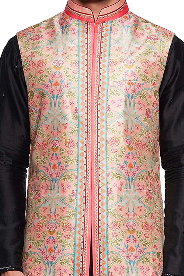 Cream Bagh Bundi Jacket by Siddhartha Bansal Men