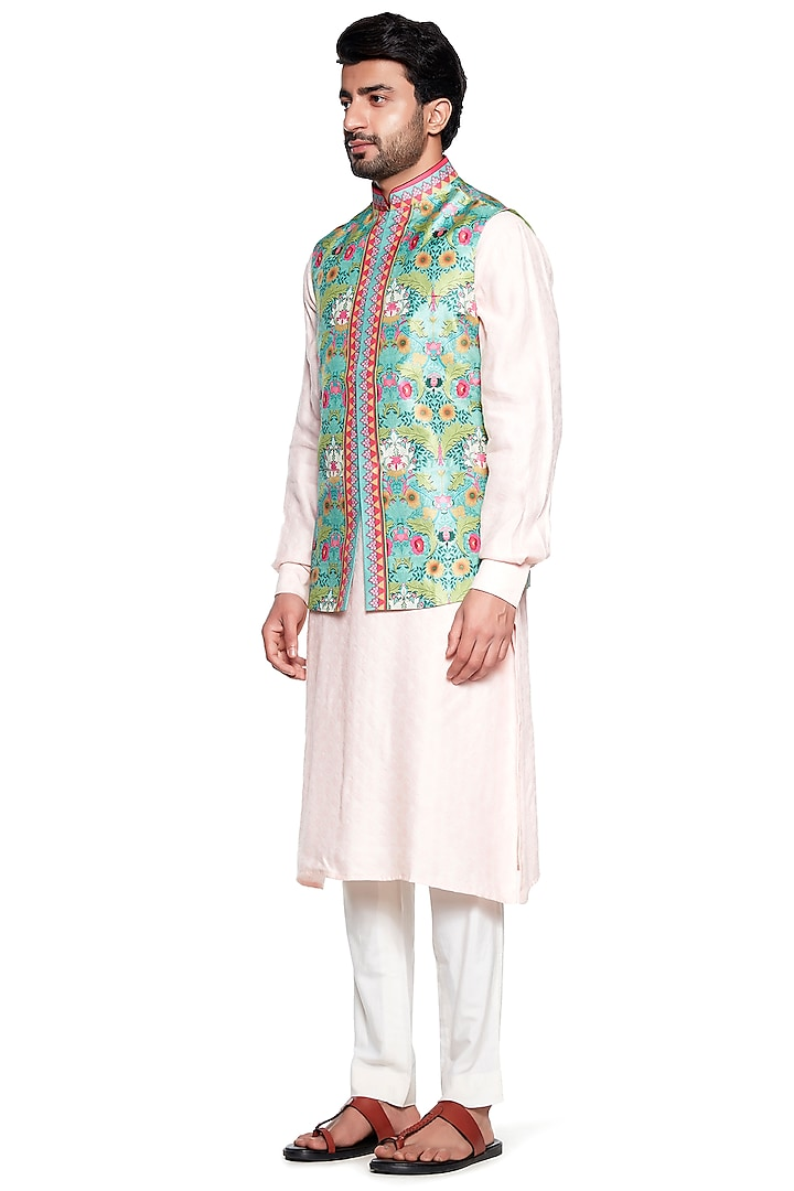 Grey Bagh Bundi Jacket by Siddhartha Bansal Men