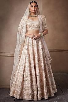 Blush Pink Embroidered Lehenga Set by Seema Gujral