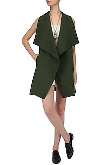 Olive Green Cordoba Jacket by Label Ishana