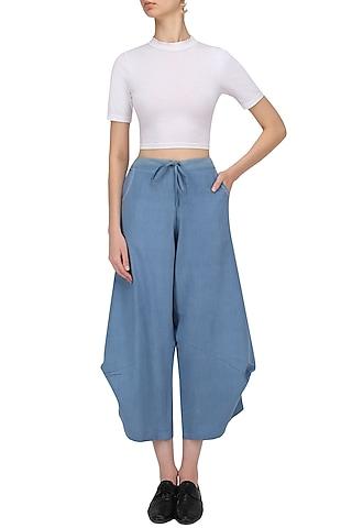 Denim Blue Azur Pants by Label Ishana