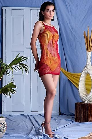 Red Mini Dress by Shivika Agarwal